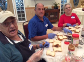 PBJ sandwiches for Rescue Mission